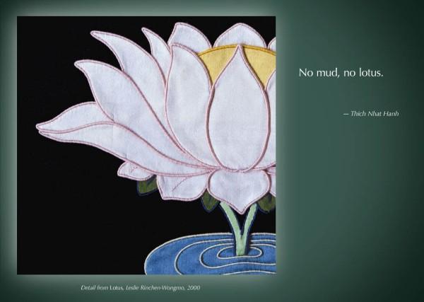 No mud, no lotus. Thich Nhat Hanh